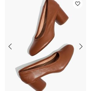 Madewell Reid Pump in Leather